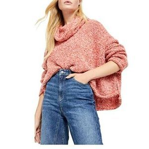 Free People Women's Cowl Neck BFF Sweater Pullover